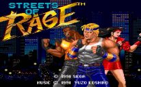 Streets of Rage Title Screen