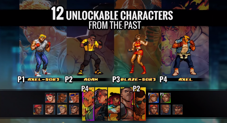 Streets of Rage 4 Retro Characters