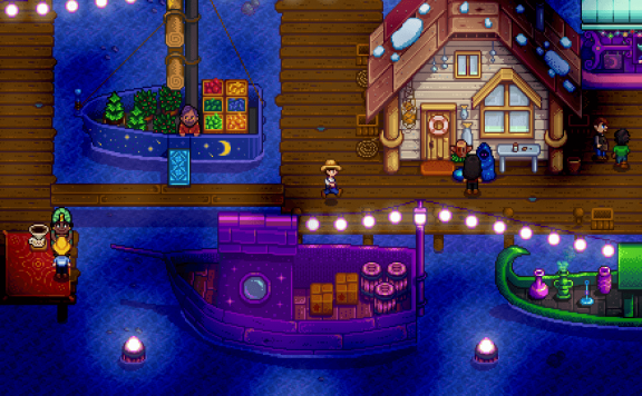 Stardew Valley Party at the Pier