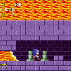 Sonic the Hedgehog - Outrunning lava