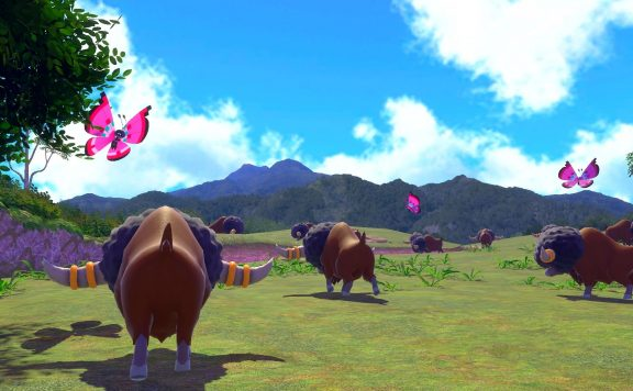 New Pokemon Snap - A heard of Tauros roams the open plains.